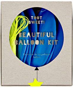 Store blå balloner - barnedåb