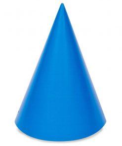 8 blå festhatte