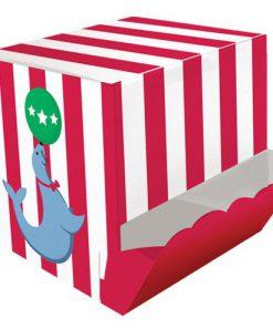 Cirkus time snak bokse med cirkusmotiver på