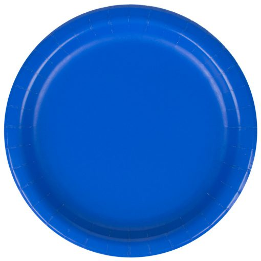 Mørkeblå tallerken - engangsservice - cobolt blå