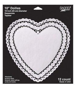 Stor kageserivet - til et fad - hvidt hjerte