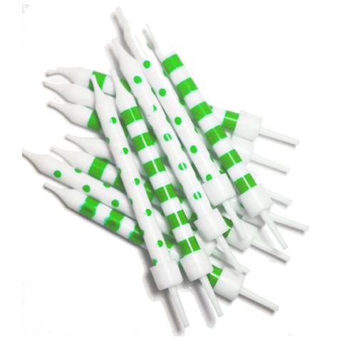 Grønne og hvide lagkagelys