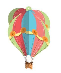 Hængende dekoration - Luftballon
