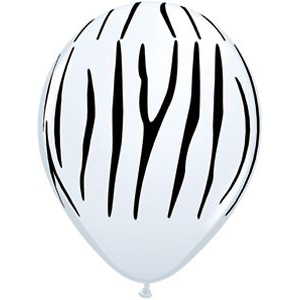 Hvid ballon med tigerstriber
