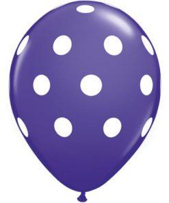 Lilla ballon med hvide polkaprikker - Magiske Minder