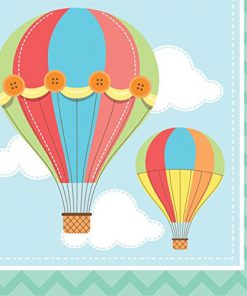 Luftballon serviet - 3 års fødselsdag