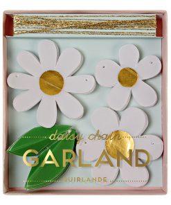 Lille guirlande med blomster - Marguritter