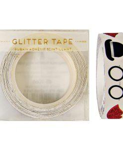 Dekorationstape med Bowlerhat, læber og briller fra Meri Meri