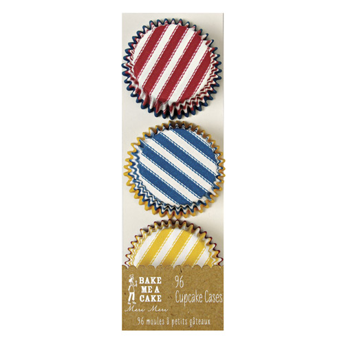 Mini cupcakeforme i tre farver - gul, rød og blå