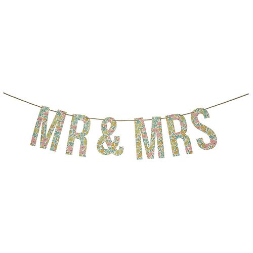 Mr & Mrs - Liberty guirlande fra Meri Meri