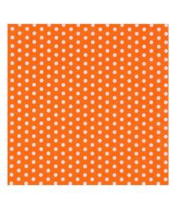 orange serviet med hvide prikker