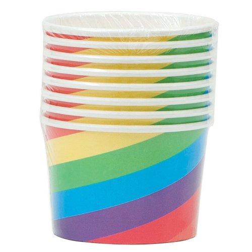 Slik bægre i regnbuefarver til børnefødselsdagen