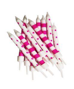 Pink og hvide kagelys