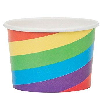 Regnbue snack bæger til nødder, frugt eller slik til fødseldagsbordet