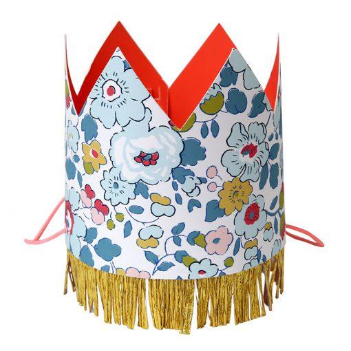 Liberty Prinsesse krone med guldfrynser