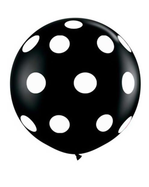 sort prikket kæmpe ballon