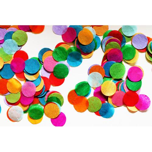 runde konfetti i pang, neon farver