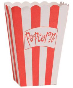Store popcornbæger - movie night - børnefødselsdag
