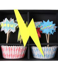 Superhelte cupcakesæt fra Meri Meri