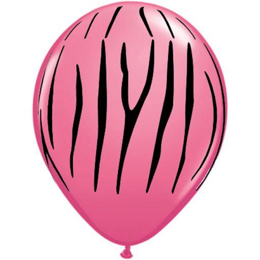 Candy Pink ballon med tigerstriber