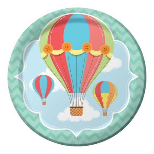 Ballongynge tallerken - fin til babyshower