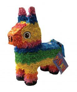 El Burro æsel pinjata i regnbue farver - pinata