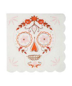 Halloween sugar skull serviet fra Meri Meri