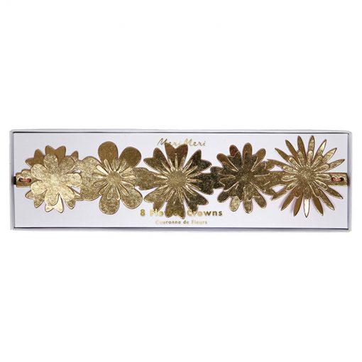 Guldkrans med blomstermotiv fra Meri Meri