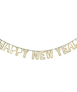 Festlig Nytårsguirlande med teksten HAPPY NEW YEAR