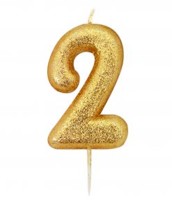 Guld glitter lys 2 år-0