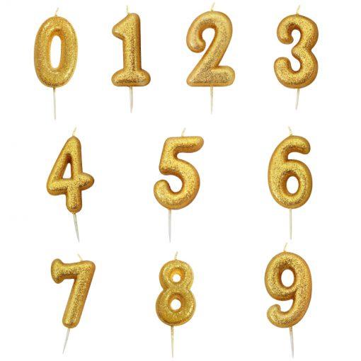 Guld glitter lys 6 år-3476