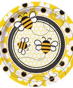 Stor tallerken med bier