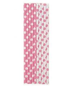 Papirsugerør - pink