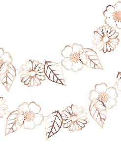 Blomster guirlande - rose gold folie