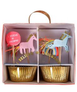 Enhjørning cupcake kit fra Meri Meri