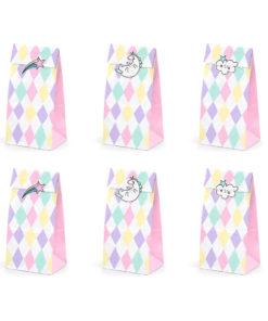 Harlekin slikposer med enhjørninge stickers