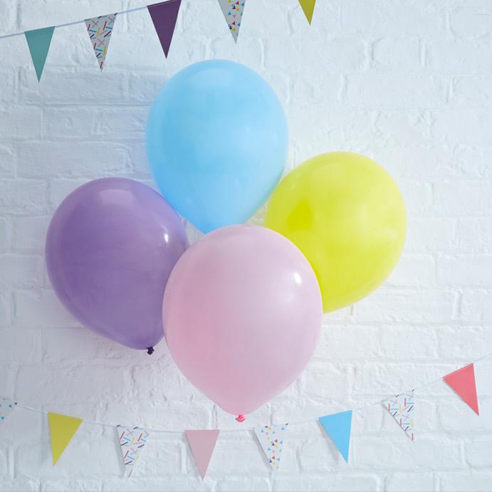 Ensfarvede balloner - pakker