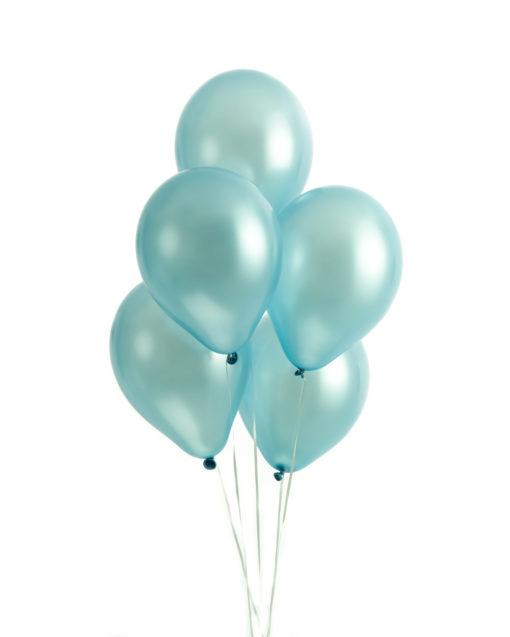 Mintfarvede perlemors balloner