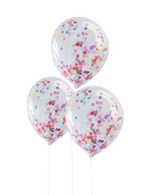 Multifarvede konfetti balloner