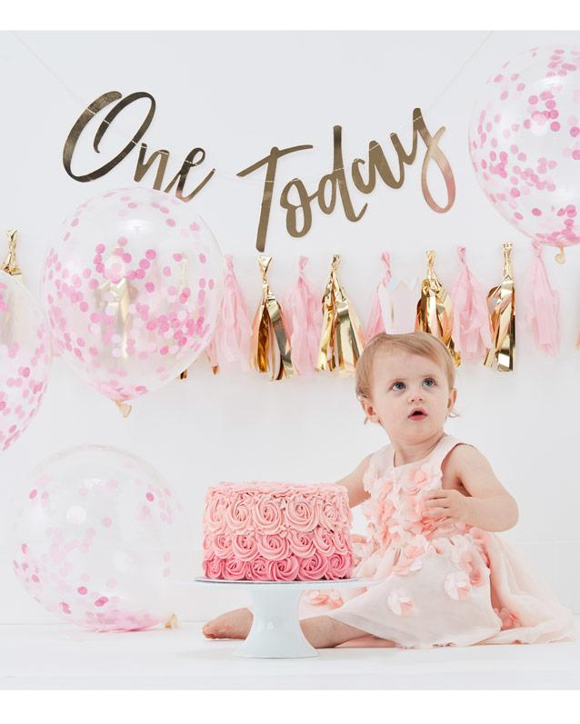 d5a3dc60 Cake smash kit - 1 års fødselsdag pige - Pynt til den første fødselsdag