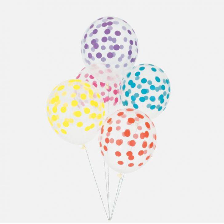 Polkaprikkede balloner