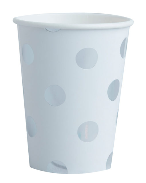Papkrus med sølv polka prikker