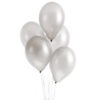 Sølvfarvede metallic balloner