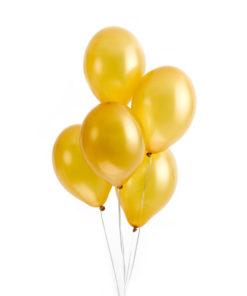 Guld balloner metallic