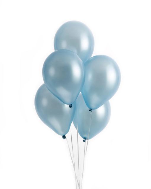 Lyseblå metallic balloner