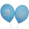 """Lyseblå balloner med guld """"Happy Birthday"""" skrift"""