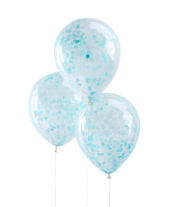 Lyseblå konfetti balloner