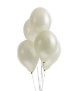 Cremefarvede metallic balloner
