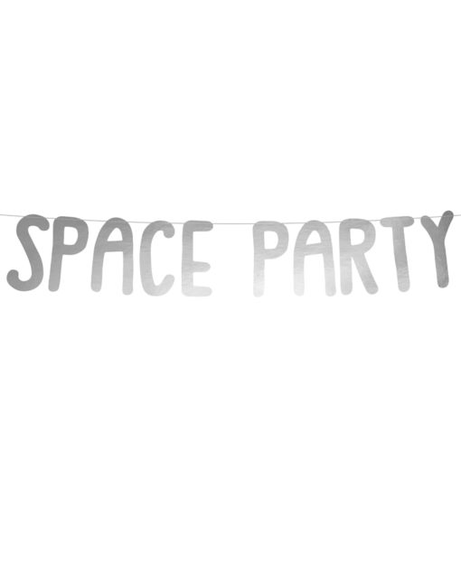 Space Party sølv guirlande