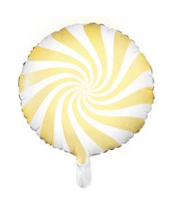 Lysegul bolche stribet ballon